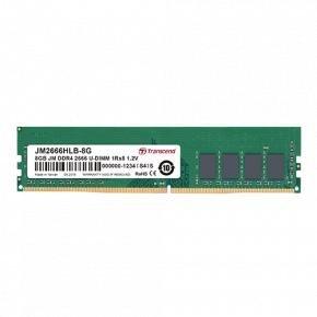 Transcend JM2666HLB-8G JetRam [8GB, DDR4-2666, U-DIMM, 1Rx8/ 1Gx8, CL19, 1.2V]
