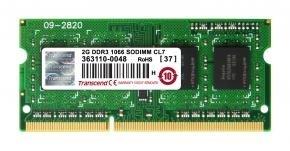 Transcend TS256MSK64V1N SO-DIMM [2GB, DDR3, 1066Mhz, CL7, 1.5v]