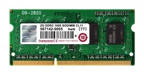 Transcend TS256MSK64V6N SO-DIMM [2GB, DDR3, 1600Mhz, CL11, 1.5V]