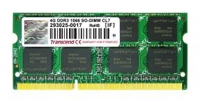 Transcend TS512MSK64V1N SO-DIMM [4GB, DDR3, 1066Mhz, CL7, 1.5V]