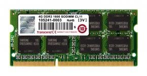Transcend TS512MSK64V6N SO-DIMM [4GB, DDR3, 1600Mhz, CL11, 1.5V]