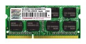 Transcend TS1GSK64V3H SO-DIMM [8GB, DDR3, 1333Mhz, CL9, 1.5V, 2Rx8]