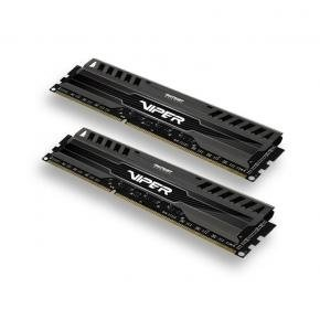 Patriot PV38G160C9K VIPER 3 BLACK MAMBA DUAL KIT [8GB, DDR3 DIMM, 1600MHZ, CL9, 1.5V]