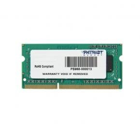 Patriot PSD34G160081S Signature SO-DIMM [4GB, DDR3, 1600MHZ, CL11, 1.5V, SODIMM]