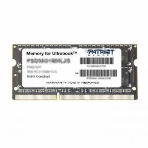 Patriot PSD34G1600L81S SO DIMM for Ultrabook [4GB, SO-DIMM DDR3-1600MHz, CL11 Low-Voltage 1.35V]