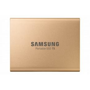 Samsung MU-PA1T0G/EU T5 SSD [1 TB, USB Type-C, 3.2 Gen 2, 540 MB/s, Password protect, Gold]