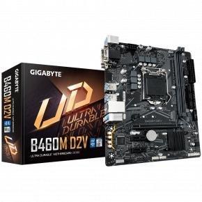Gigabyte B460M D2V [mATX, LGA1200, Intel B460M, 2x DDR4 DIMM, 2933 MHz, M.2, USB3.1, GBLAN]