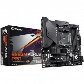 Gigabyte B550M AORUS PRO [mATX, AM4, AMD Ryzen, 4x DDR4 DIMM 4733 MHz, M.2, USB3.2 Gen2, GBLAN, TPM]