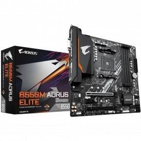 Gigabyte B550M AORUS ELITE [mATX, AM4, AMD Ryzen, 4x DDR4 DIMM, 4733 MHz, M.2, USB3.1, GBLAN, TPM]