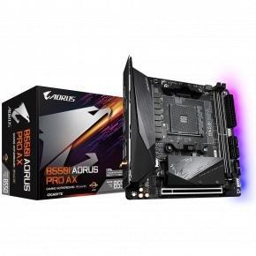 Gigabyte B550I AORUS PRO AX [ATX, AM4, AMD Ryzen, 2x DDR4 DIMM, 5000 MHz, M.2, USB3.1, WiFi/ GBLAN]