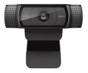 Logitech C920 HD Pro webcam [USB2.0, 15MP 1920x1080 Full-lHD, H.264, Microphone, Black]