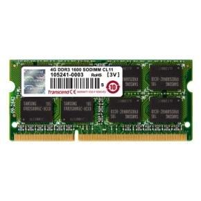 Transcend TS512MSK64V6H DDR3 SO-DIMM [4GB, 1600Mhz, CL11, 1Rx8, 512Mx8, 1.5v]