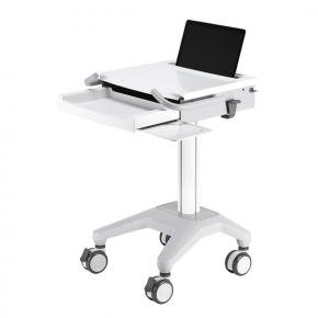Newstar MED-M200 Medical Mobile Stand for Laptop, keyboard & mouse, Height Adjustable [5kg, White]