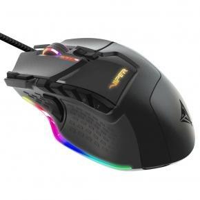 Patriot PV570LUXWAK VIPER 570 GAMING LASER MOUSE Blackout edition [USB, Optical, 12000 DPI, Black]